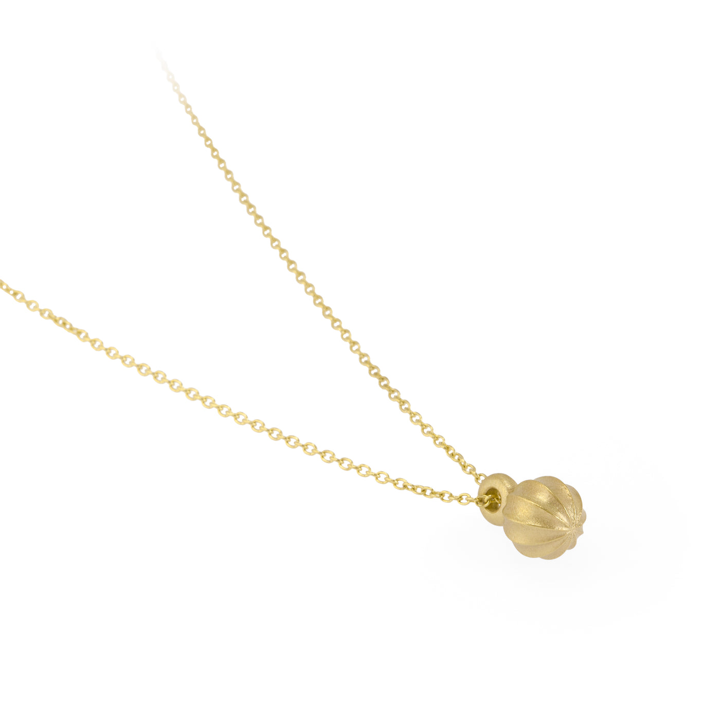 Sustainable gold necklace. This ethical Seed Pendant is handmade in Cape Town in recycled gold from e-waste.