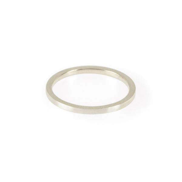 Sustainable silver ring. This ethical Simple Band is handmade in Cape Town in recycled silver from e-waste.