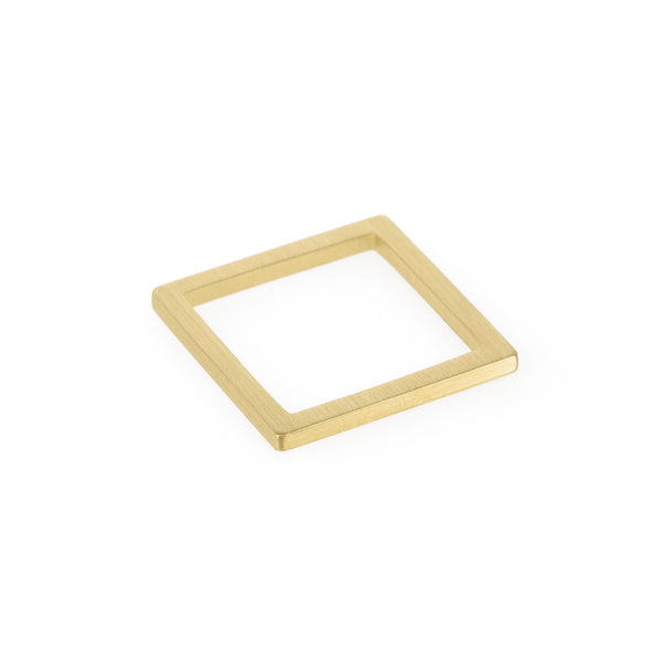 Ethical gold ring. This minimalist Square Ring is handmade in Cape Town in recycled gold from e-waste.