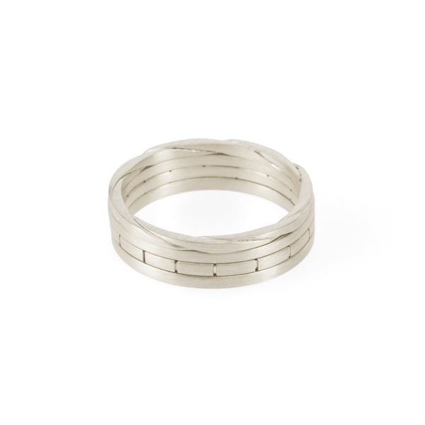 Sustainable silver stacking rings. This ethical Traveller's Set is handmade in Cape Town in recycled silver from e-waste.