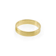 Ethical gold ring. This minimalist Flat Wedding Band is handmade in Cape Town in recycled gold from e-waste.