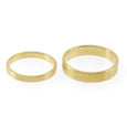 Sustainable gold rings. These ethical Flat Wedding Bands are handmade in Cape Town in recycled gold from e-waste.