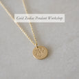 Gold Zodiac Pendant Workshop 8 February