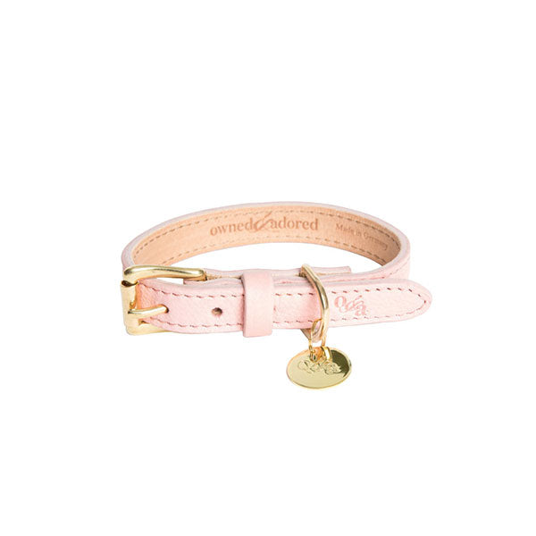 [CLEARANCE!] The Classic Dog Collar by Owned & Adored in Blush Pink