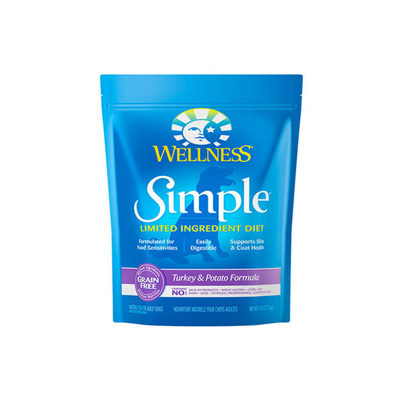 Wellness SIMPLE Limited Ingredient Turkey & Potato Recipe Dry Dog Food Front