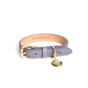 [CLEARANCE!] The Classic Dog Collar by Owned & Adored in Greyberry Grey