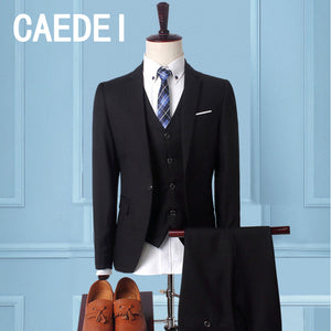 CAEDEI 2018 Men's Suits Classic Dress Wedding Suit Single Breasted Suit Male Two Piece (Jacket+Pants) Men's Slim Fit Suits
