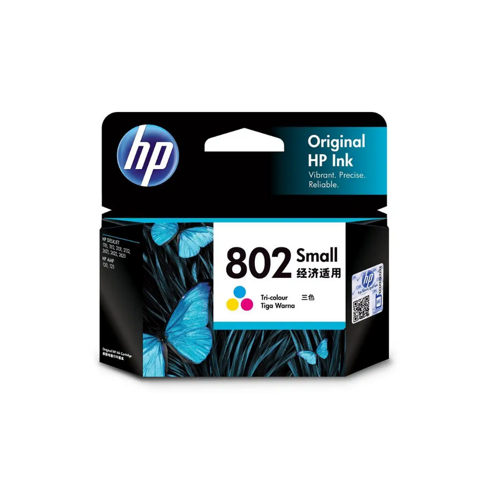 HP 802 Small Tri-color Original Ink Cartridge