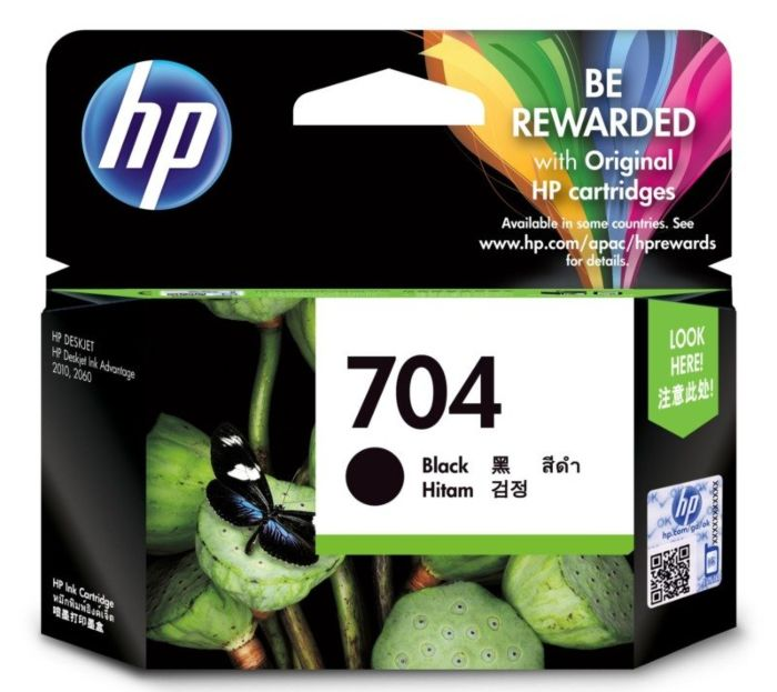 Hp 704 Black Cartridge