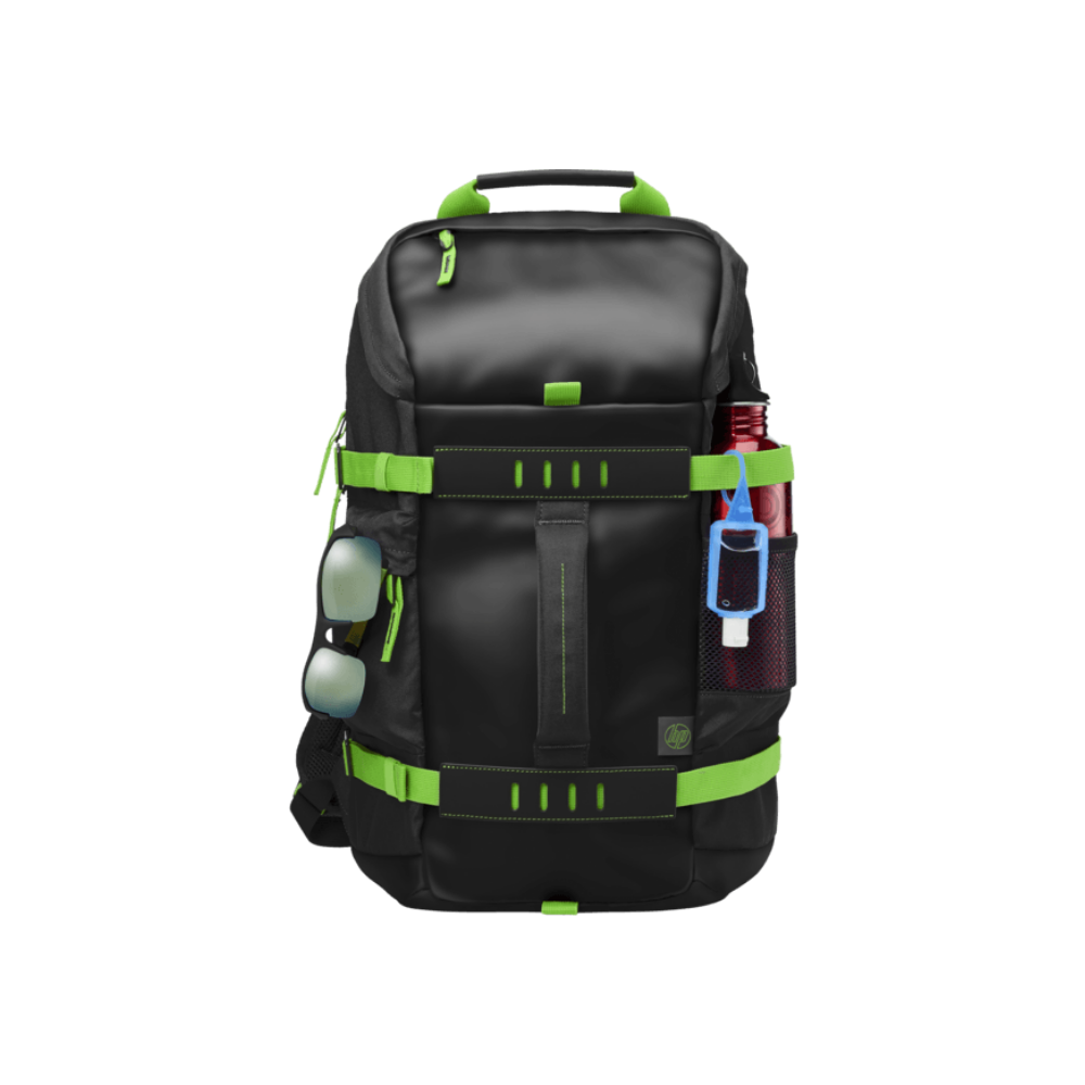 HP Montego Black Green Back Pack