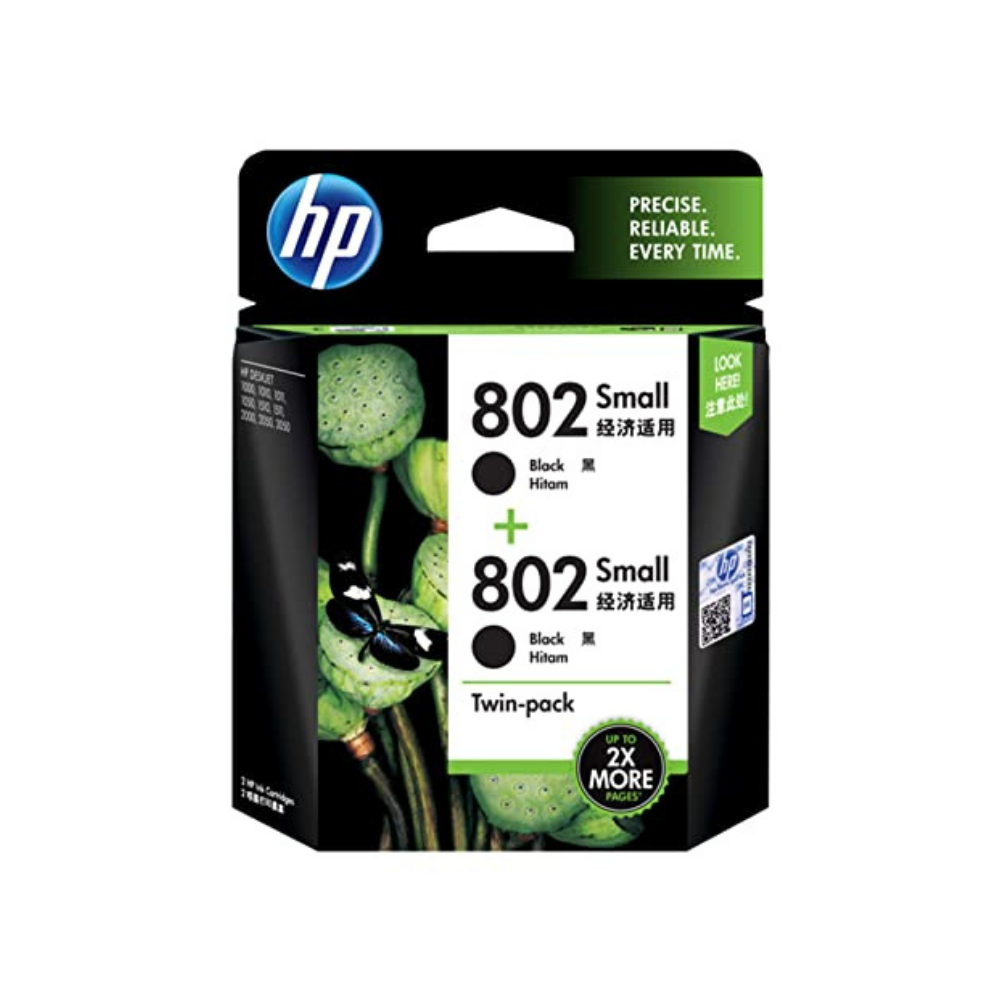 HP 802 Small Combo Original Ink Cartridges