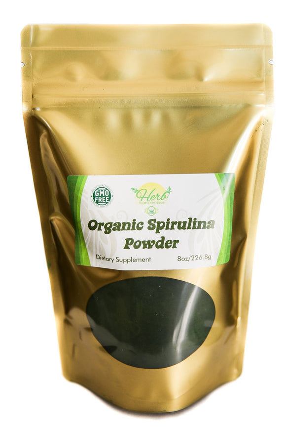 Organic Spirulina Powder 8oz - FREE Shipping