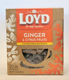 GINGER & CITRUS FRUITS - Herbal Fruit Tea Infusion