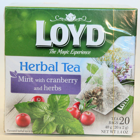 MINT WITH CRANBERRY AND HERBS  Herbal Tea