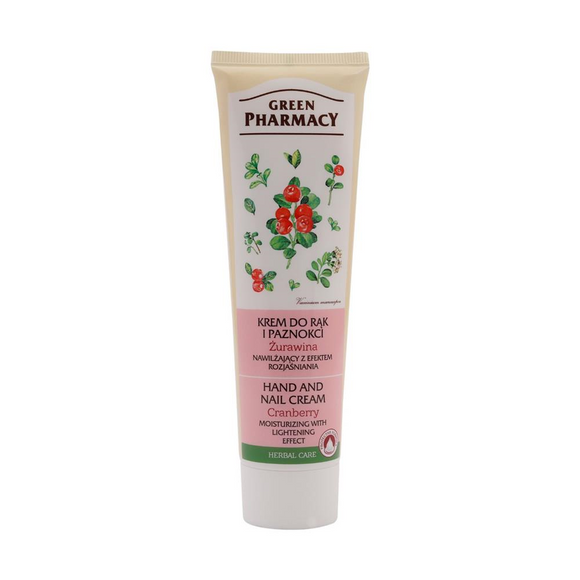 Hand and Nail Cream - CRANBERRIES - 100 ml - Green Pharmacy