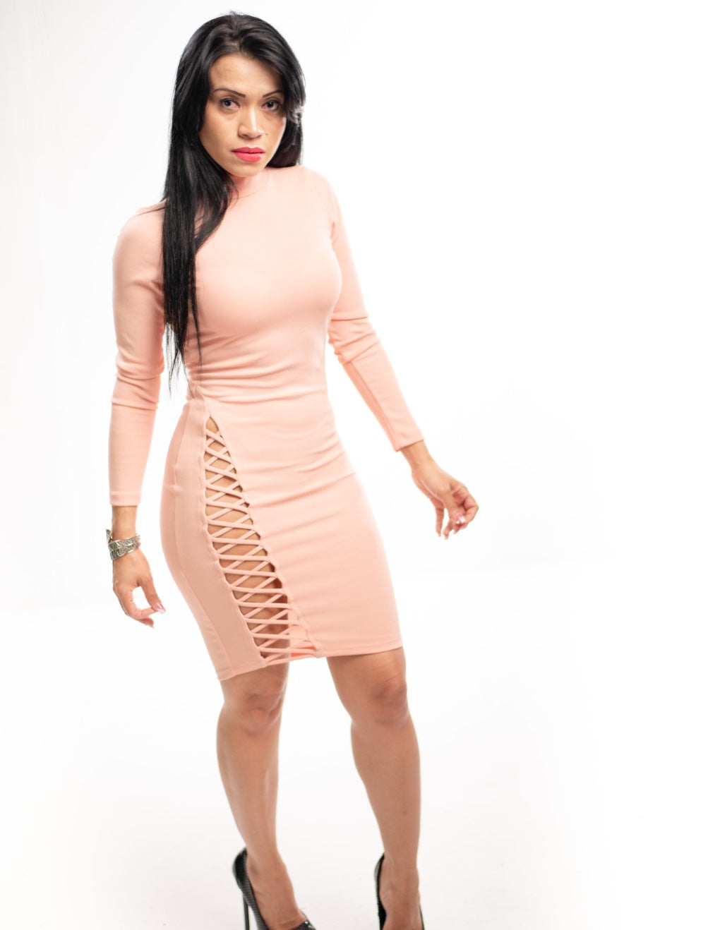 Longsleeve Peach Dress
