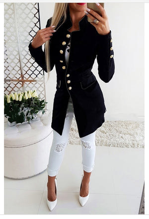 Black button up coat