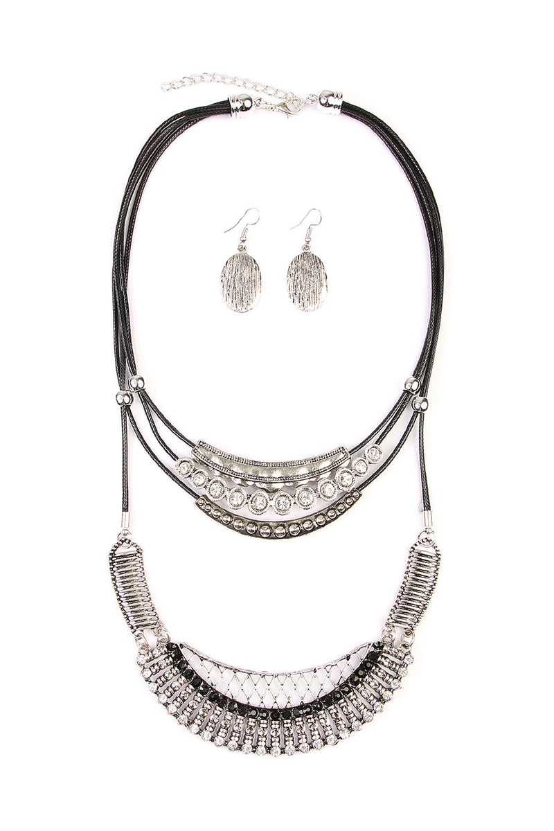 Burnish Bohemian Silver Necklace