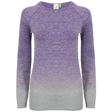 Load image into Gallery viewer, Women's Seamless fade out long sleeve top
