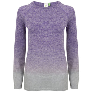 Women's Seamless fade out long sleeve top