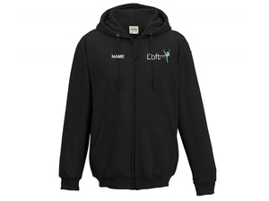 The Loft Studios Full Zip Hoodie Black