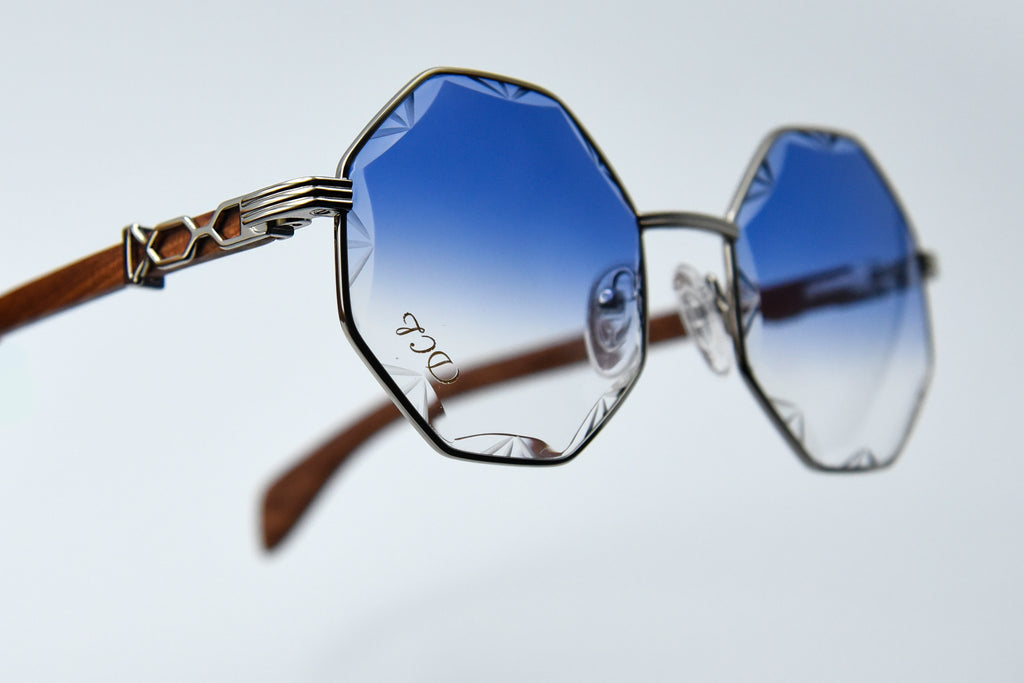 Navy Blue DaVinci Diamond Cut Lenses
