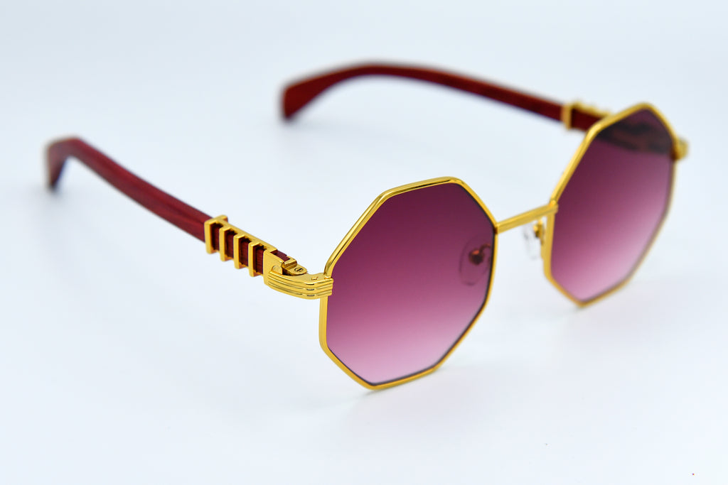Burgundy Fade and Gold - DaVinci