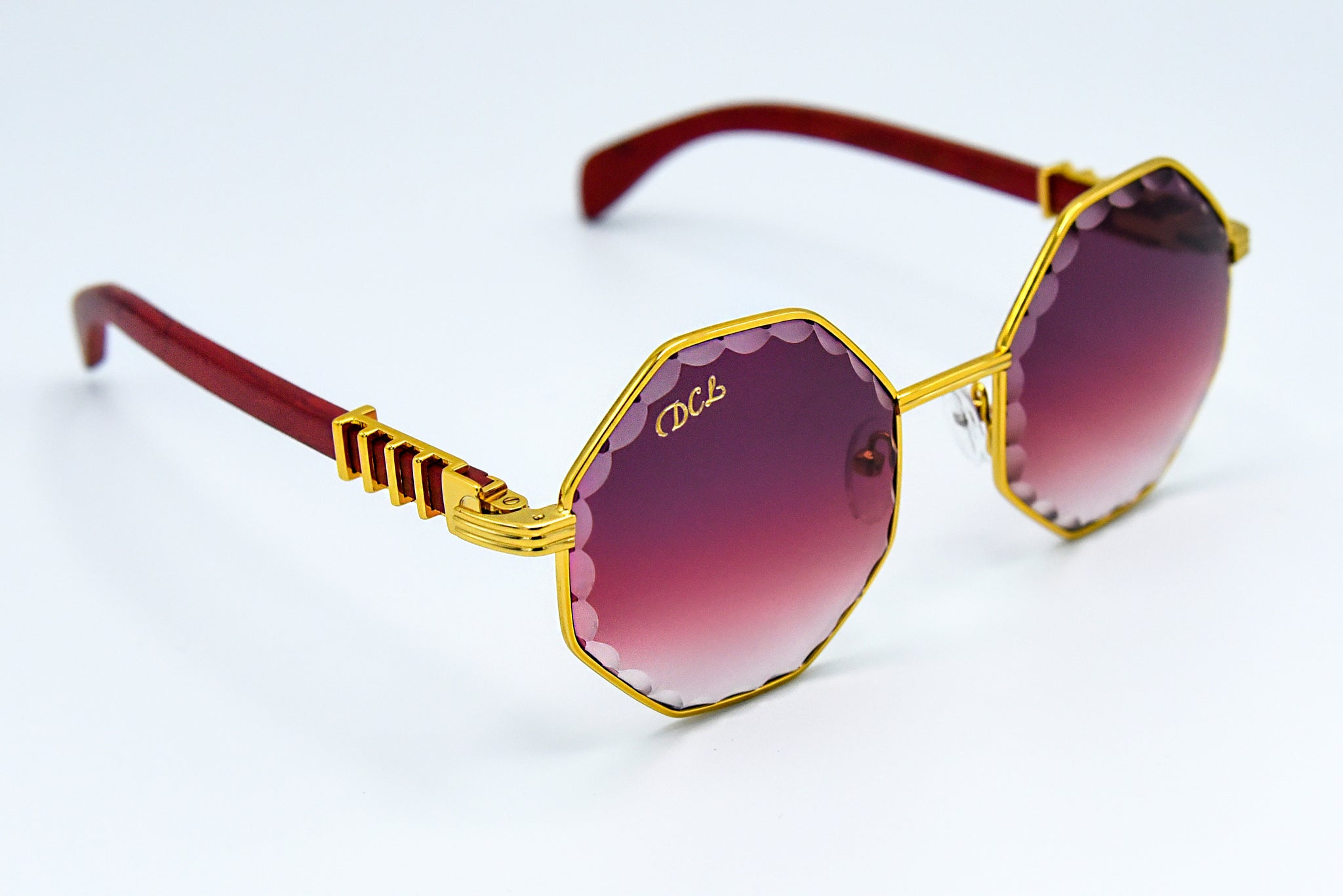Burgundy Fade - Scallop Cut Lenses - DaVinci