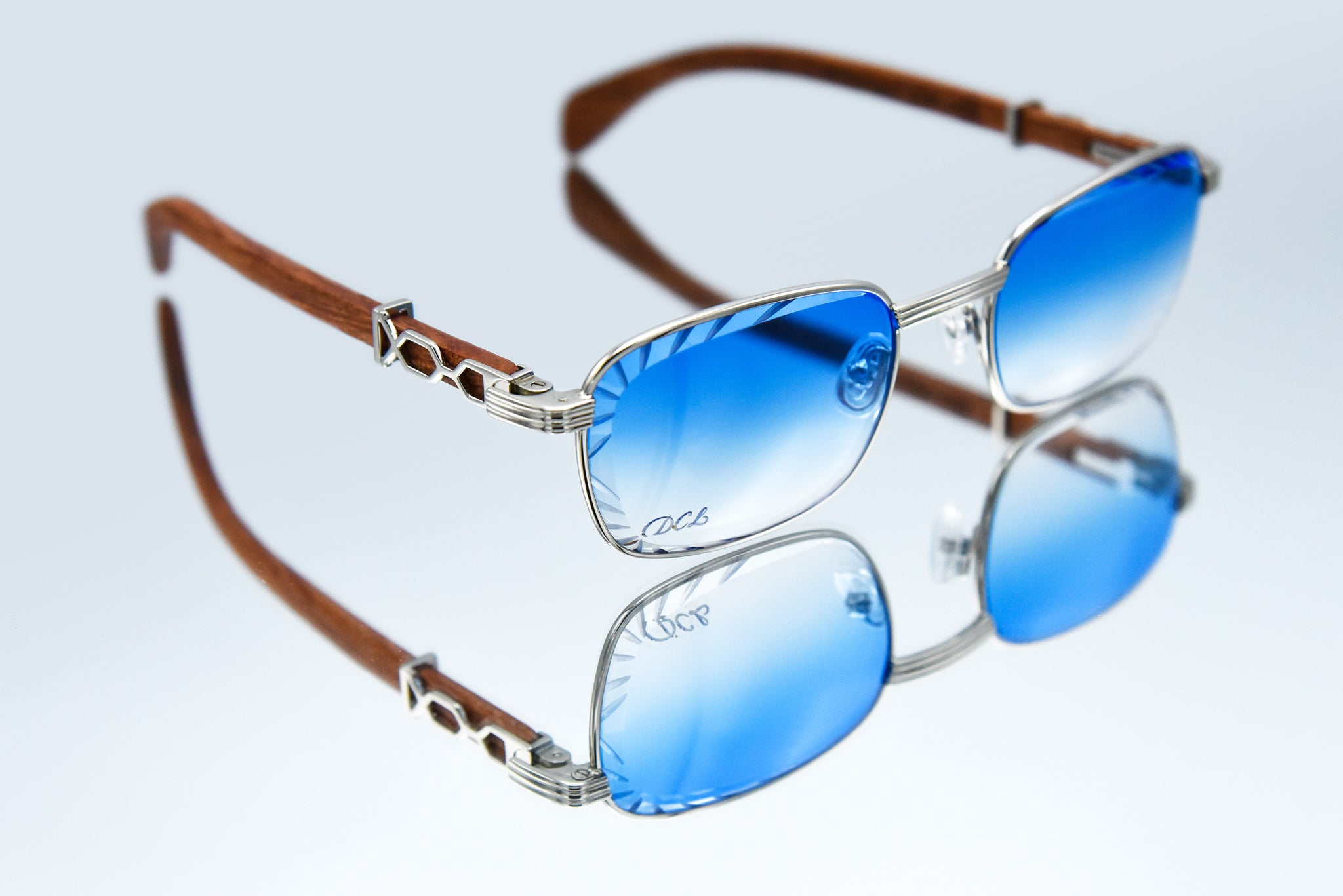Baby Blue Fade - Diamond Cut Lenses - Michelangelo