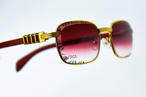 Burgundy Fade - Diamond Cut Lenses - Michelangelo