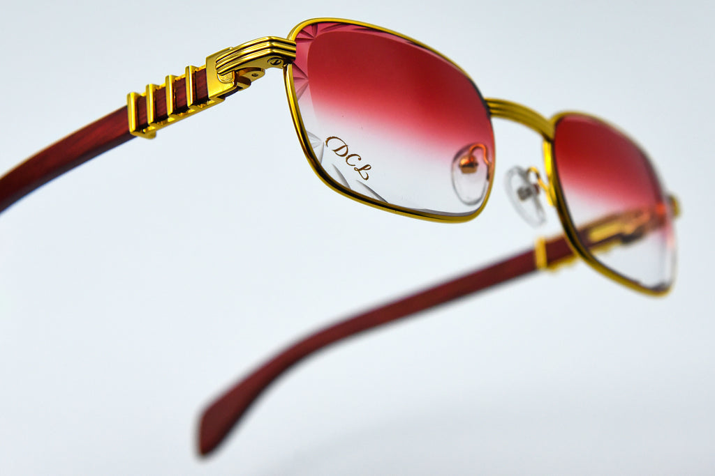 Cherry Red Fade - Diamond Cut Lenses - Michelangelo