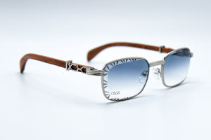 Light Grey Fade - Diamond Cut Lenses - Michelangelo