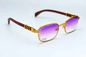 Purple Fade - Diamond Cut Lenses - Michelangelo