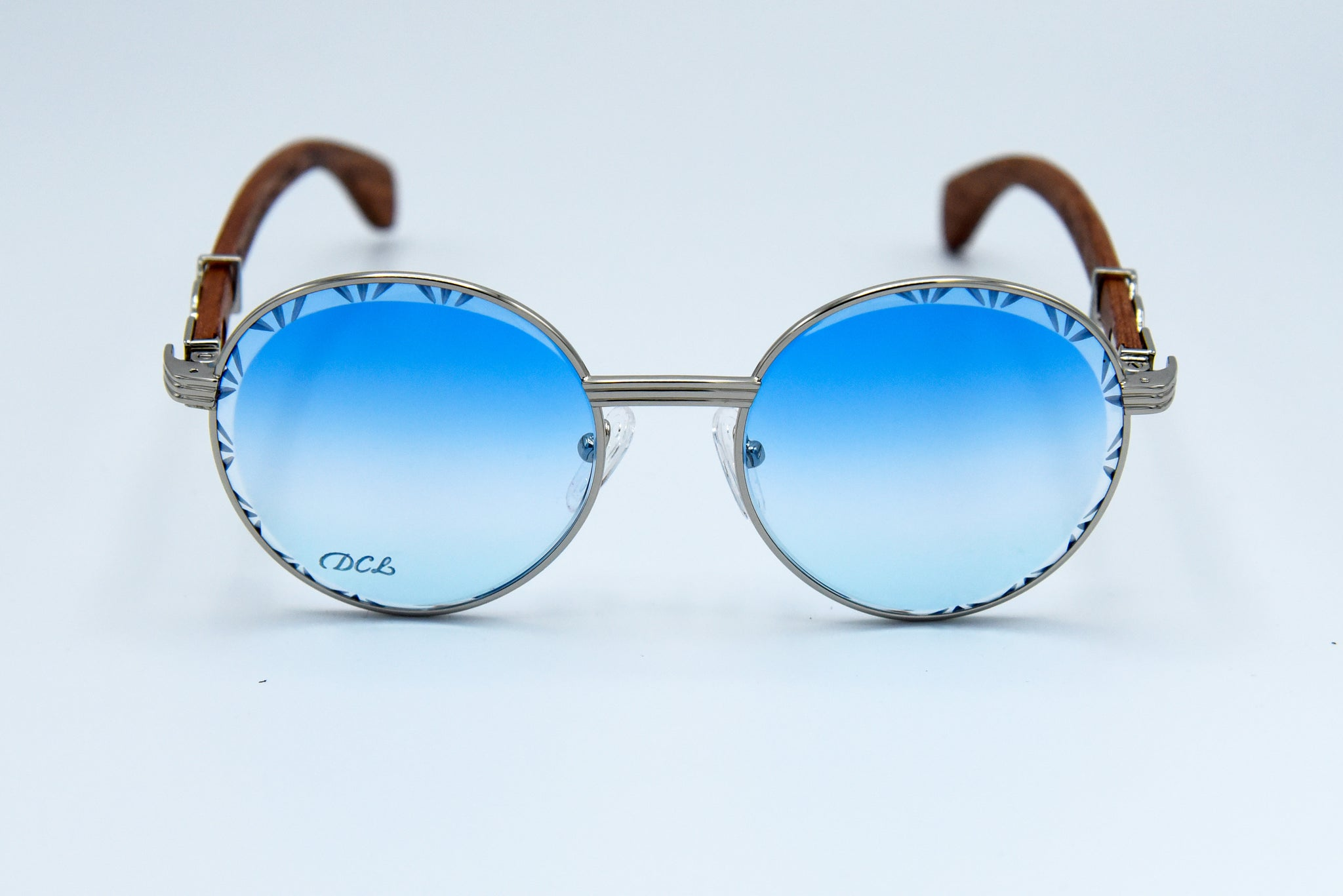 Baby Blue Fade  - Diamond Cut Lenses- Picasso