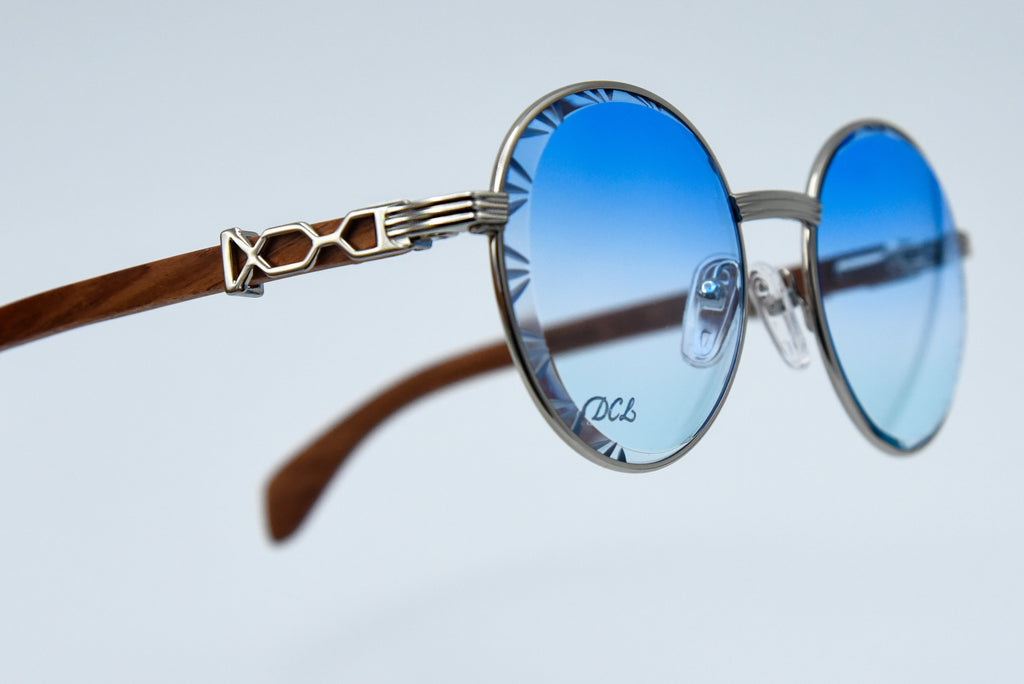 Baby Blue Picasso Diamond Cut Lenses