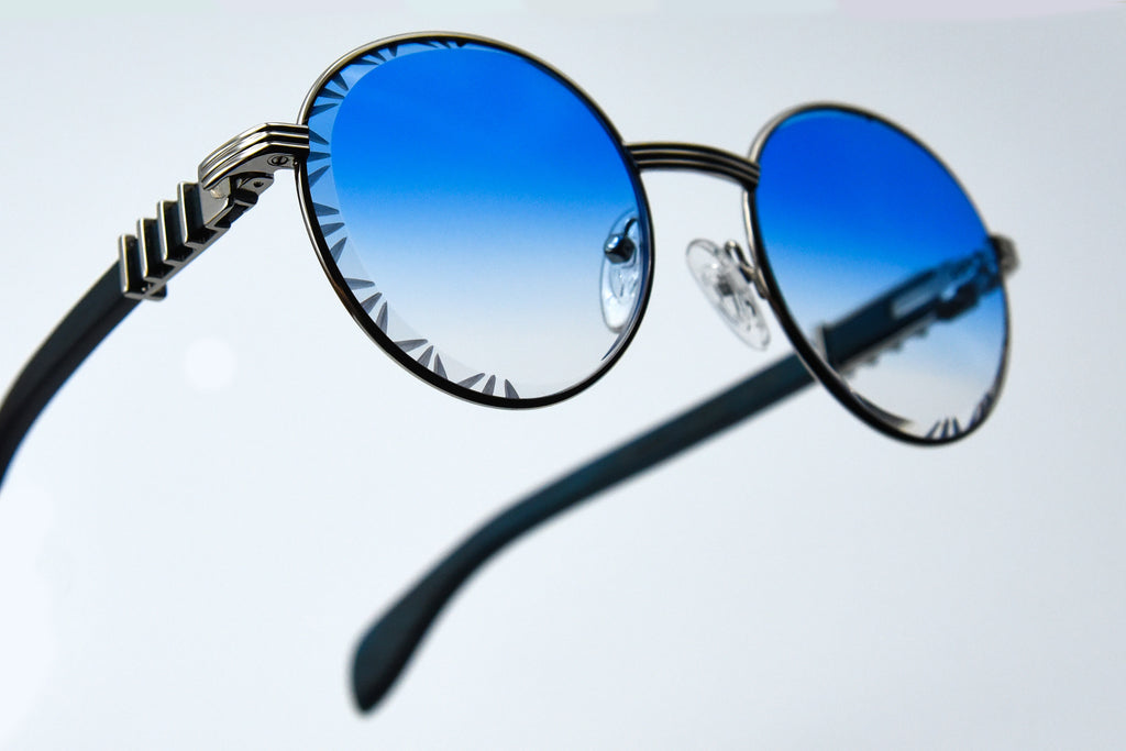 Blue Fade - Diamond Cut Lenses - Picasso