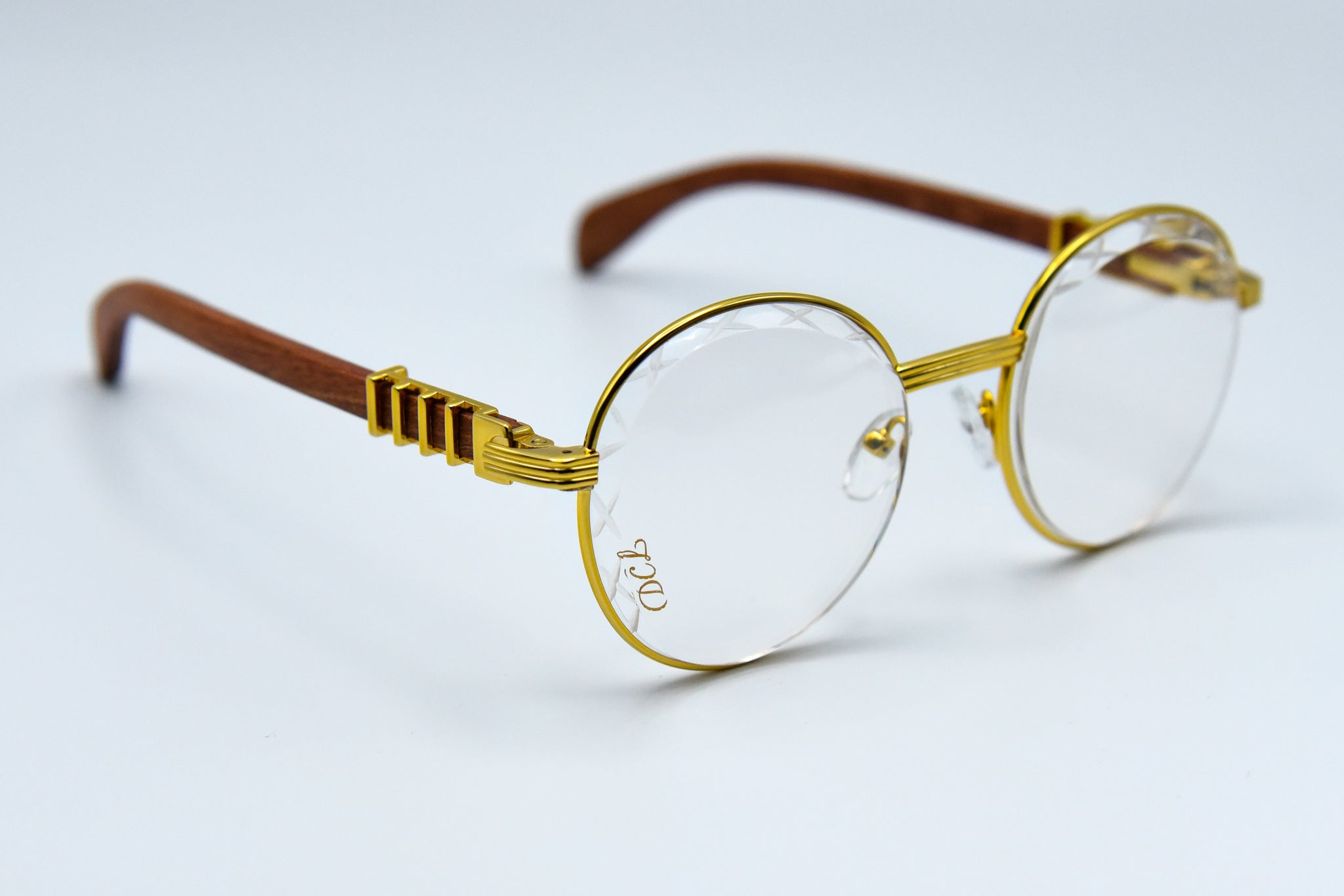Clear and Gold Column - Diamond Cut Lenses - Transitions - Picasso