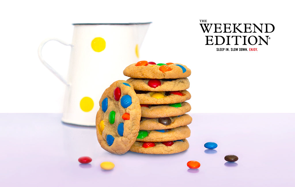 M&M's Cookies with The Weekend Edition Logo