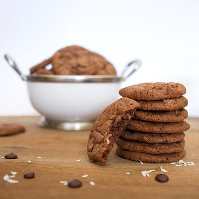 Chocolate Cherry and Coconut Cookies
