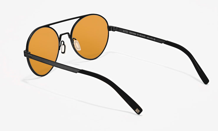 otto medium milled metal round sunglasses