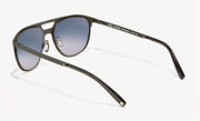 rocco large sheet metal aviator sunglasses