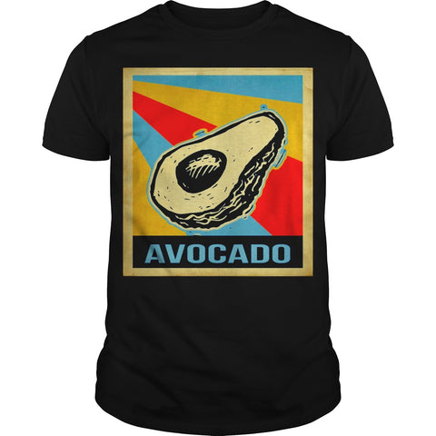 Vintage Avocado Men T-Shirt-Black-XS-Avocado Design Store