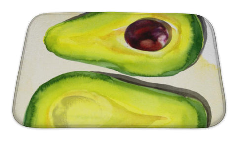 Avocado Watercolor Bath Mat