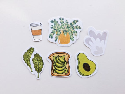 Avocado and Avocado Toast Stickers