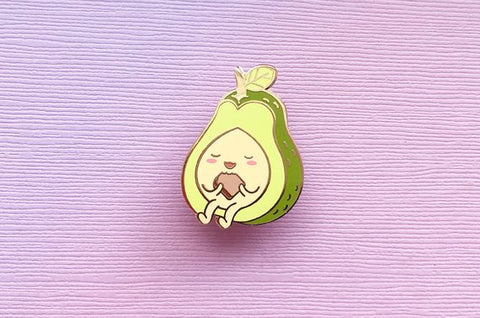 Avocado Eating Toast Enamel Pin