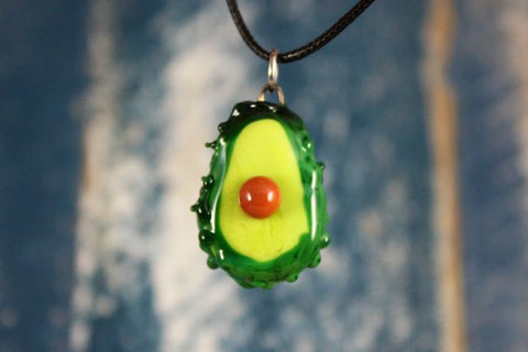 Glass Avocado Pendant