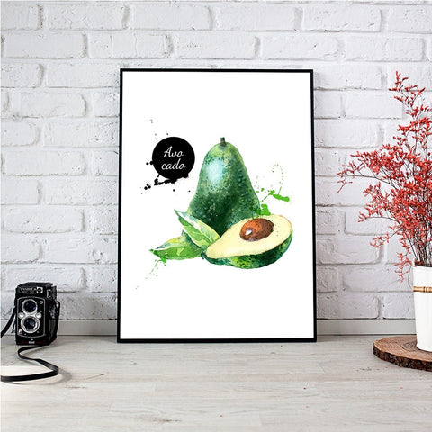 Avocado Artsy Canvas-Avocado Design Store