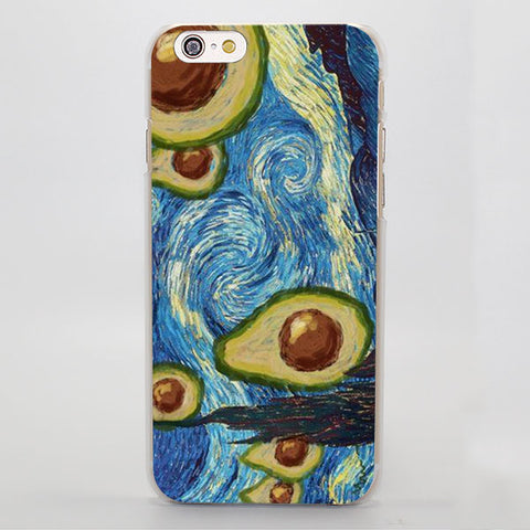 Starry Starry Avocado (Apple iPhone)-for iPhone 4 4s 4g-Avocado Design Store