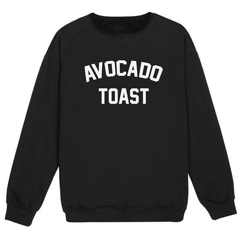 Avocado Toast Fun Sweatshirt-Black-S-Avocado Design Store