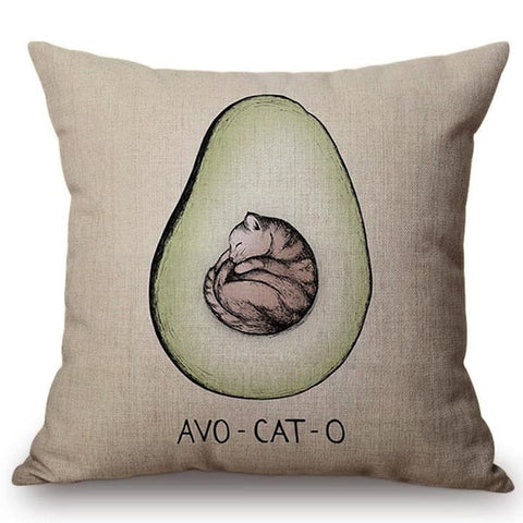 Avocato Print Cushion Cover-Avocado Design Store